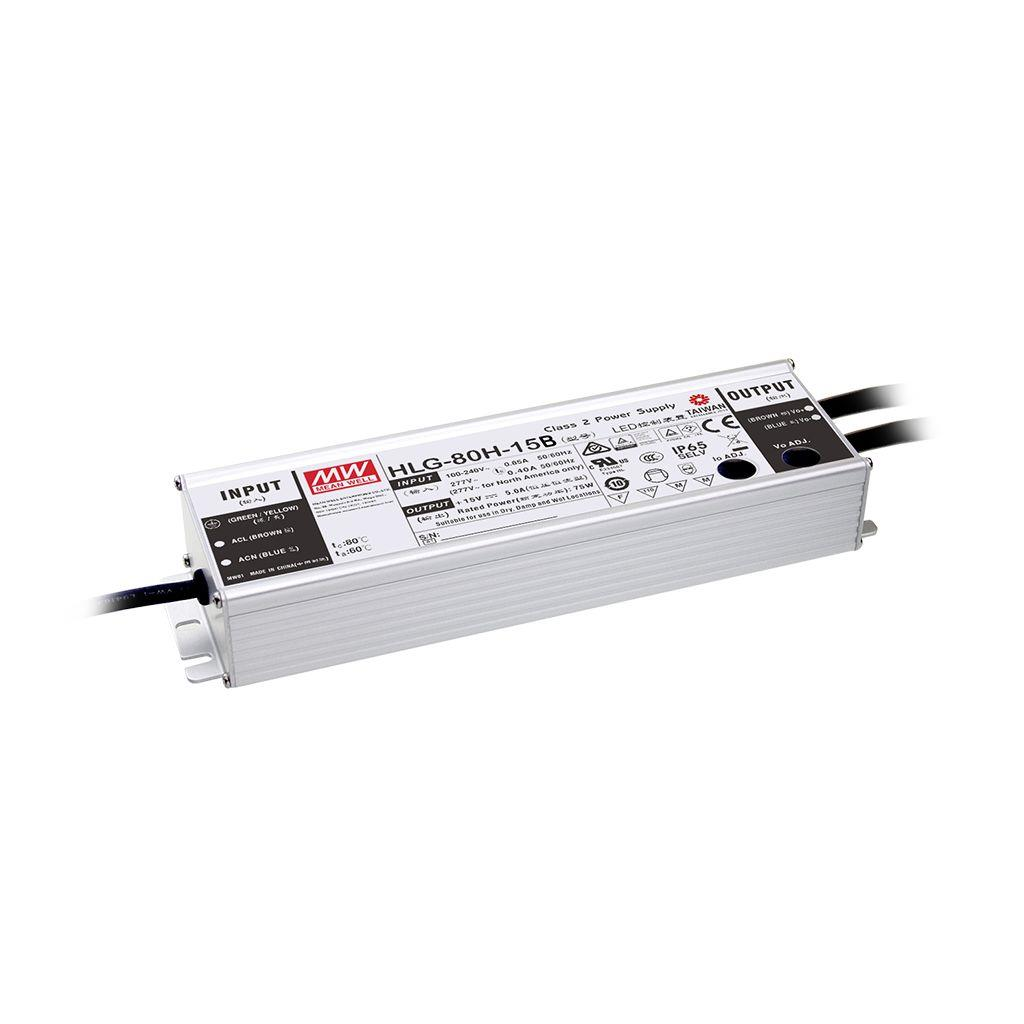 Mean Well HLG-80H-24AB AC/DC Box Type - Enclosed 24V 3.4A Single output LED driver