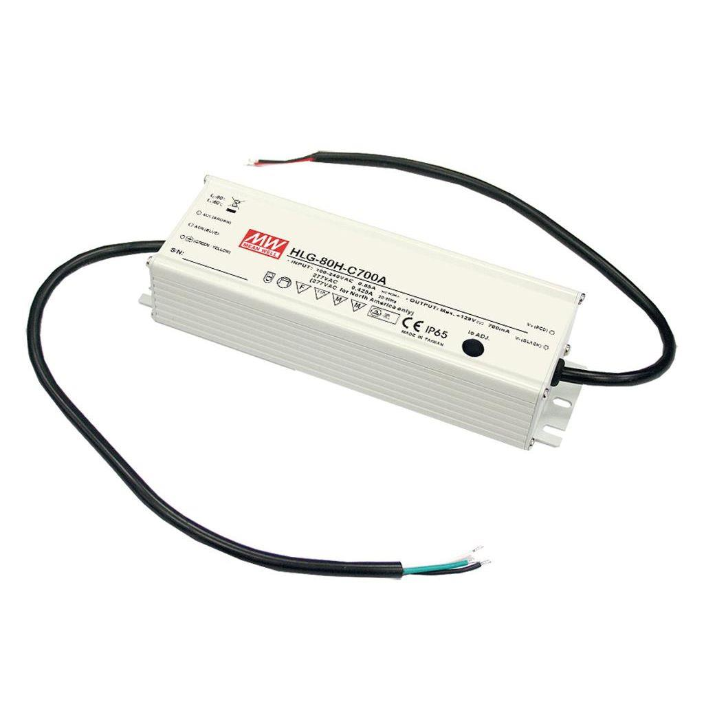 Mean Well HLG-80H-C350B AC/DC C.C. Box Type - Enclosed 257V 0.35A Single output LED driver