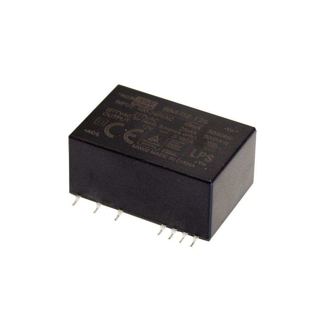 Mean Well IRM-02-12S AC/DC PCB Mount - SMD 12V 0.167A Power Supply