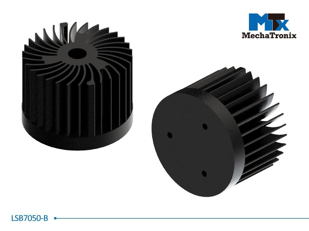 Mechatronix LSB7050-B LED Star Cooler for spot and downlights from 1,000-2,000 lm; ø70mmxH50mm; Rth 5.0°C/W; Black Anodized