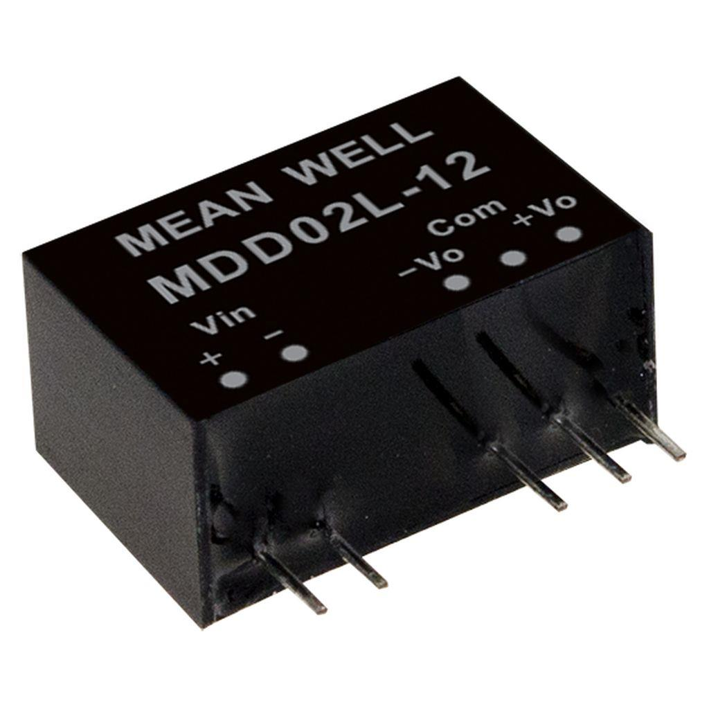 Mean Well MDD02L-09 DC/DC PCB Mount - Through Hole +-9V +-0.111A medical Converter