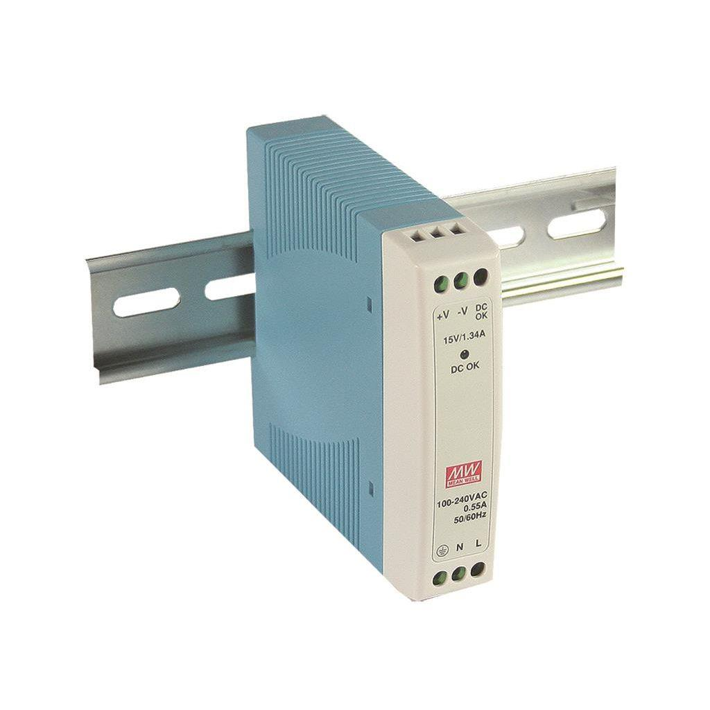 Mean Well MDR-10-12 AC/DC DIN Rail 12V 0.84A Power Supply