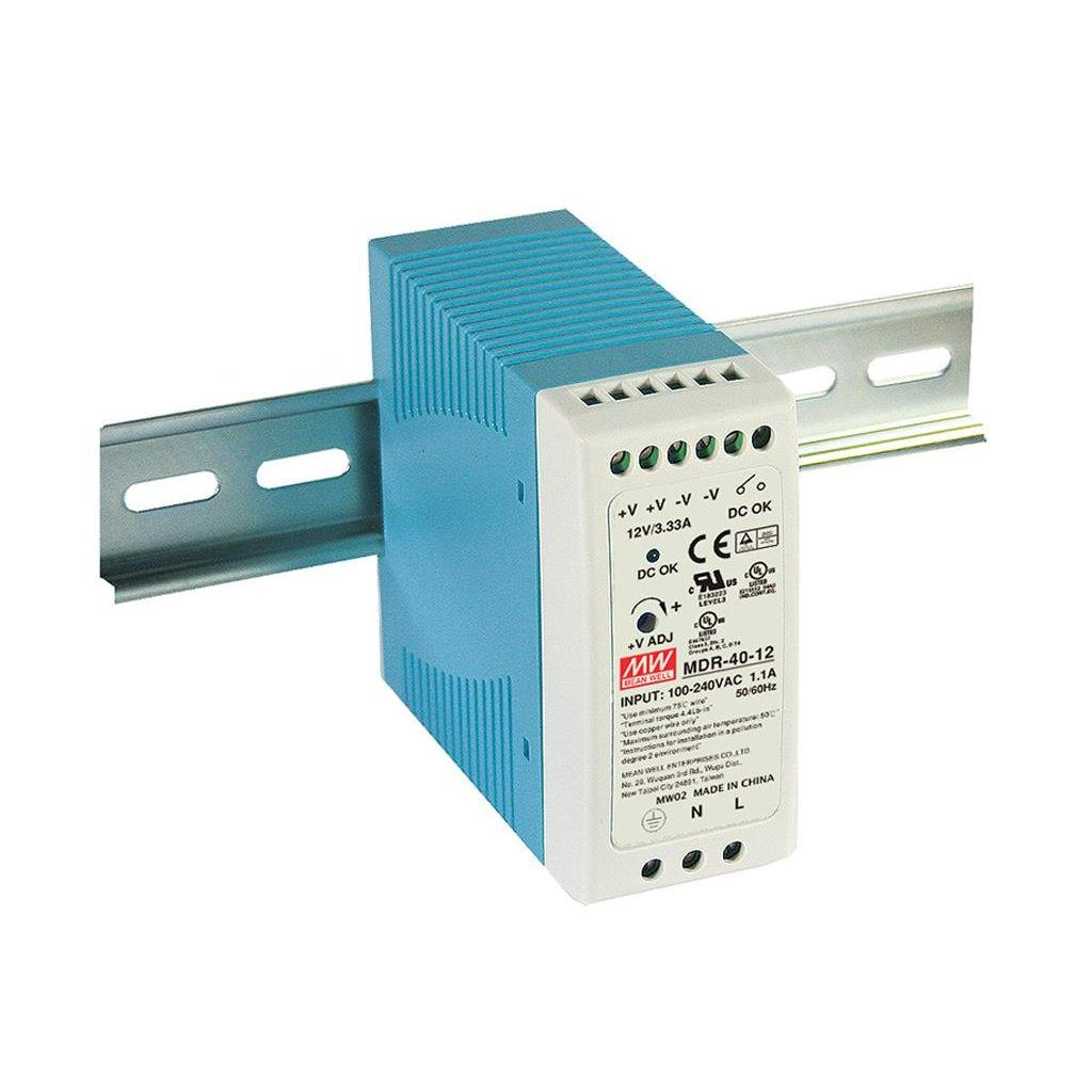 Mean Well MDR-40-5 AC/DC DIN Rail 5V 6A Power Supply