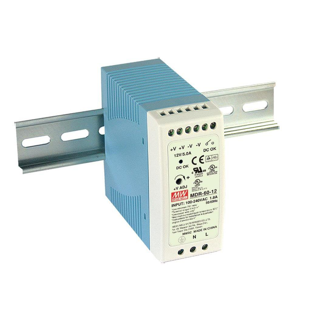 Mean Well MDR-60-48 AC/DC DIN Rail 48V 1.25A Power Supply