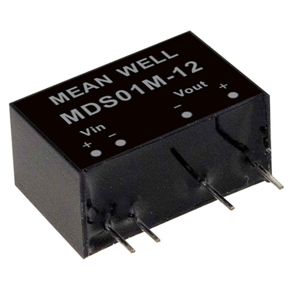 Mean Well MDS01L-15 DC/DC PCB Mount - Through Hole 15V 0.067A medical Converter