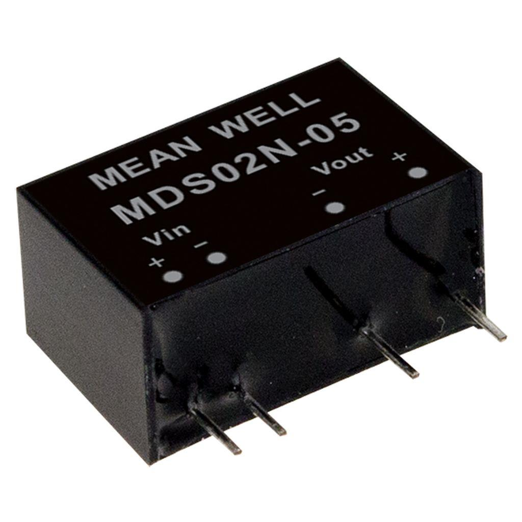 Mean Well MDS02N-05 DC/DC PCB Mount - Through Hole 5V 0.4A medical Converter