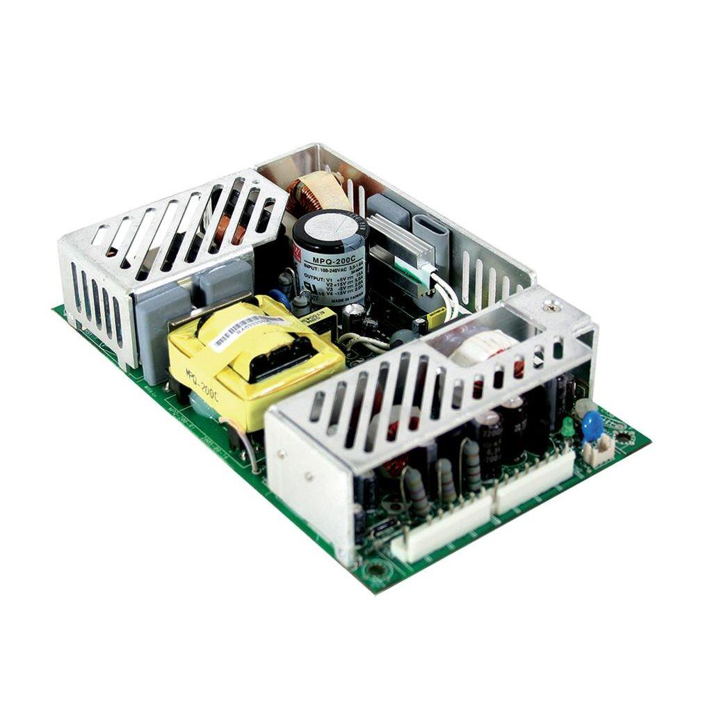 Mean Well MPQ-200C AC/DC Open Frame - PCB 5V 18A Medical Power Supply