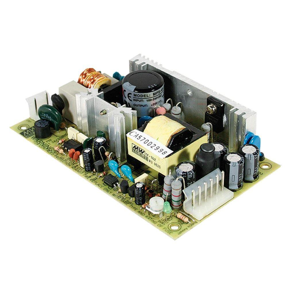 Mean Well MPS-45-7.5 AC/DC Open Frame - PCB 7.5V 5.4A Medical Power Supply