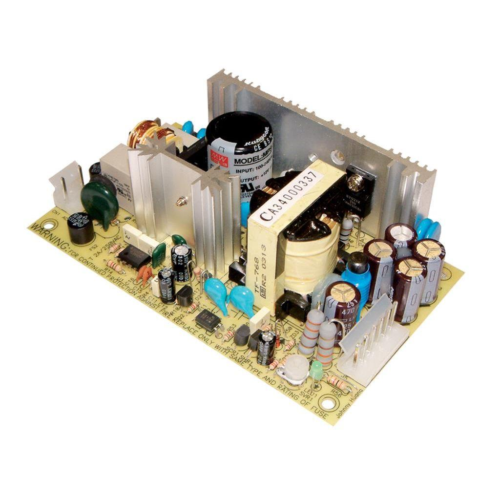 Mean Well MPS-65-15 AC/DC Open Frame - PCB 15V 4.2A Medical Power Supply