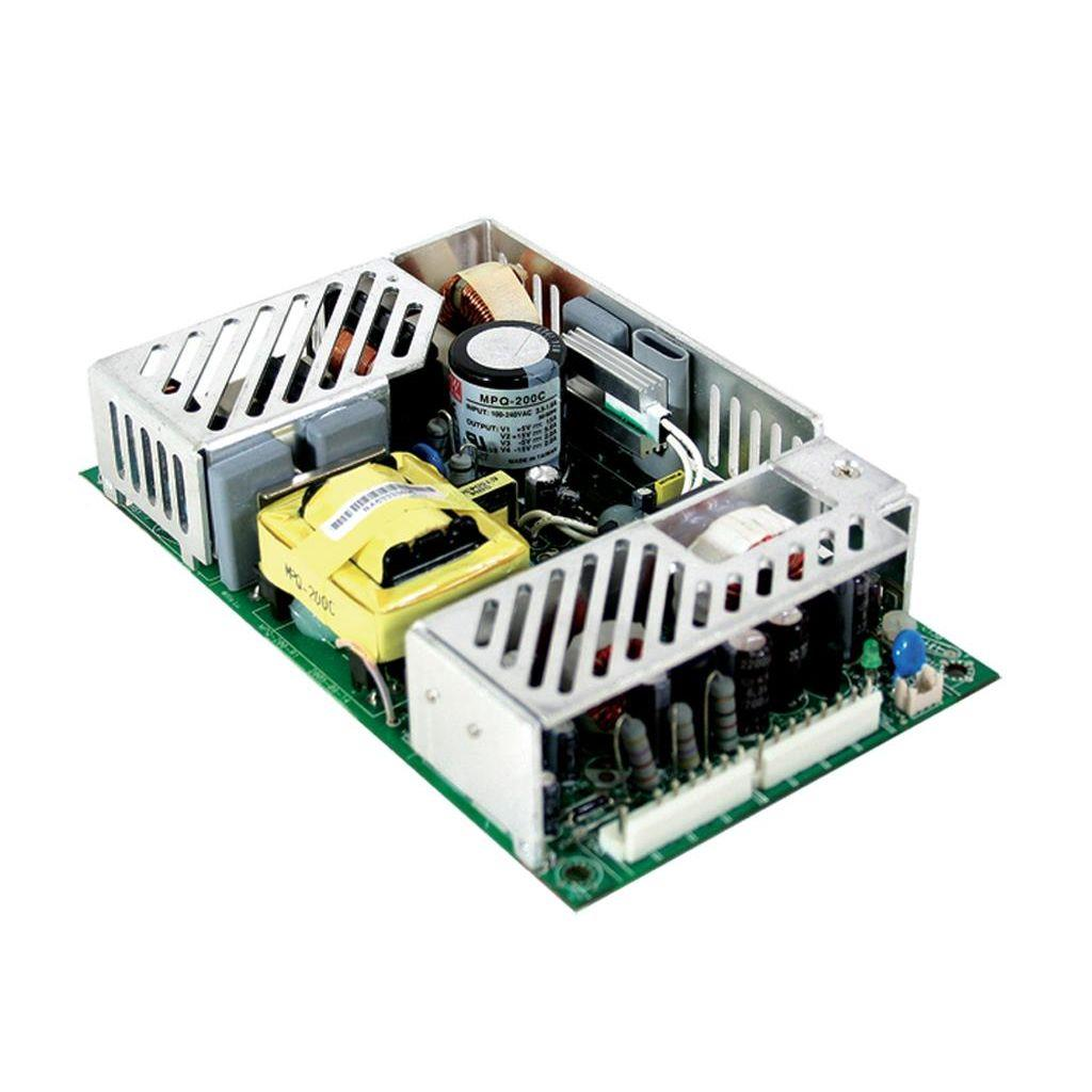 Mean Well MPT-200D AC/DC Open Frame - PCB 5V 24A Medical Power Supply