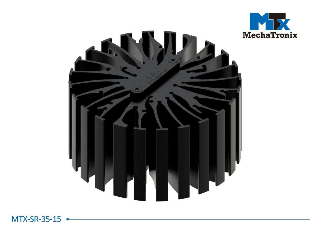 Mechatronix MTX-SR-35-15 Mounting pitch 35mm Zhaga Book 3 cable strain reliefs with cable / wire gap 1.5mm for MTX standard LED Coolers