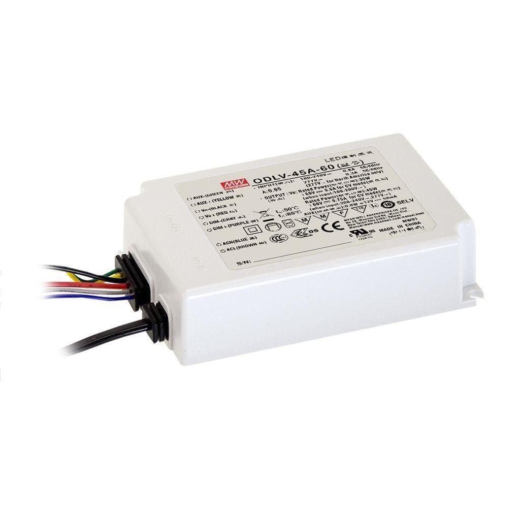 Mean Well ODLV-45-15 AC/DC C.V. Box Type - Enclosed 15V 1.88A LED Driver