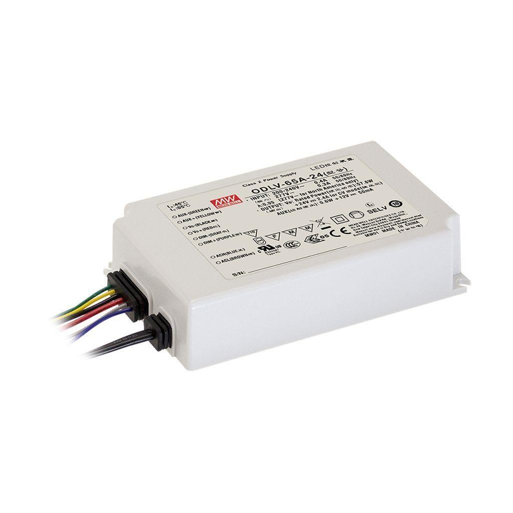 Mean Well ODLV-65-12 AC/DC C.V. Box Type - Enclosed 12V 4.2A LED Driver