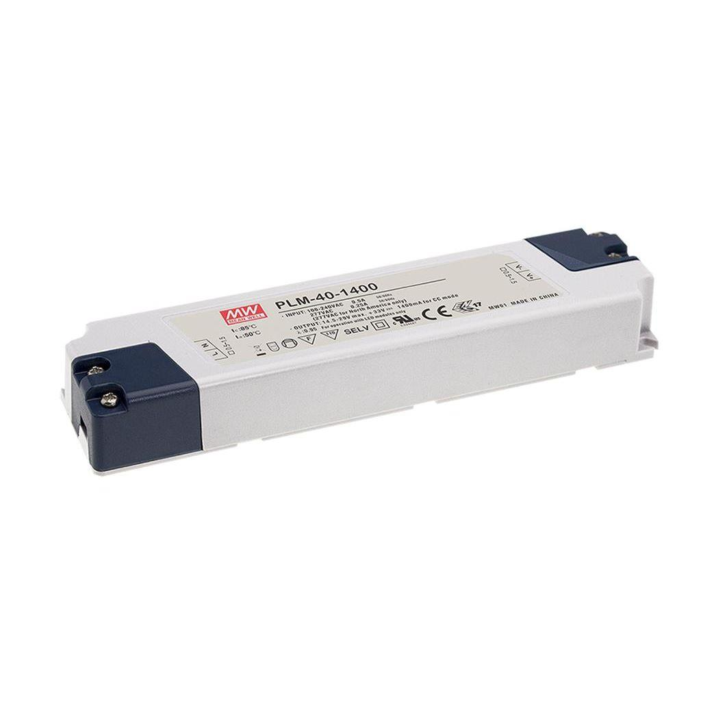 Mean Well PLM-40-1400 AC/DC C.C. Box Type - Enclosed 29V 1.4A Single output LED driver
