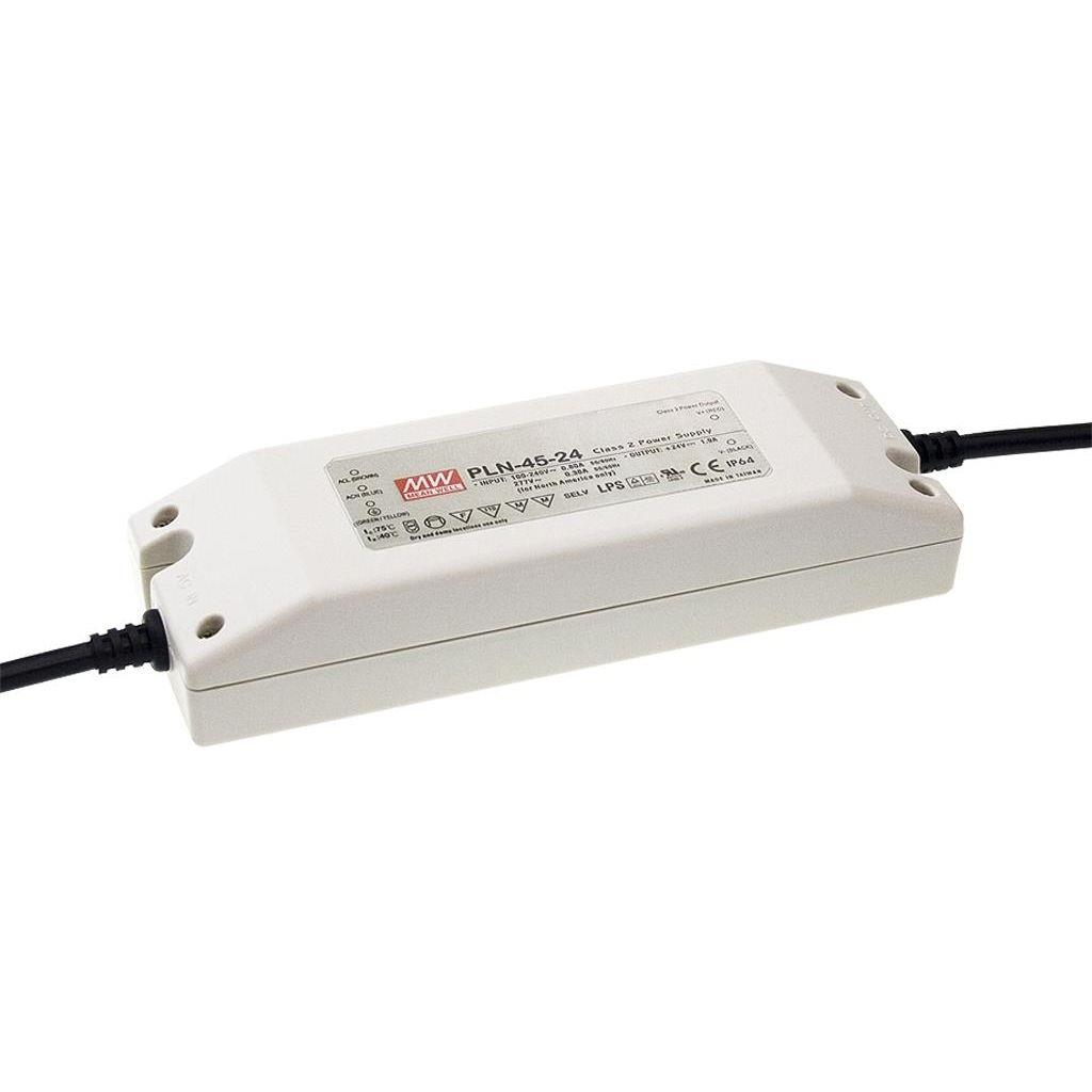 Mean Well PLN-45-24 AC/DC C.C. Box Type - Enclosed 24V 1.9A Single output LED driver