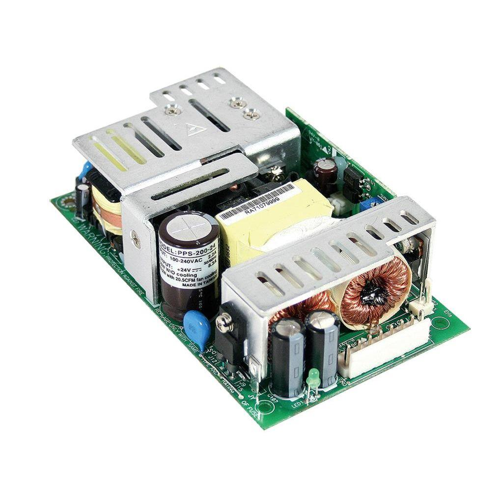 Mean Well PPS-200-12 AC/DC Open Frame - PCB 12V 16.6A Power Supply