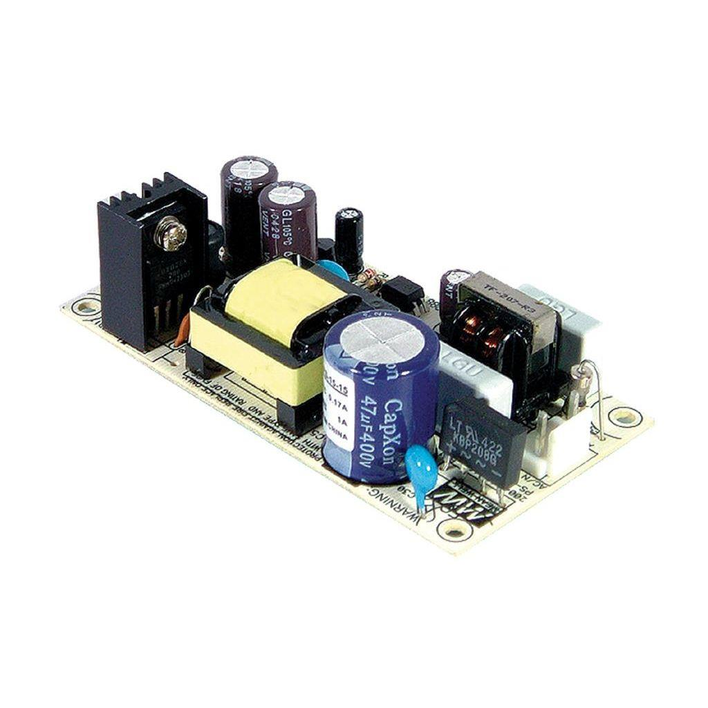 Mean Well PS-15-24 AC/DC Open Frame - PCB 24V 0.6A Power Supply