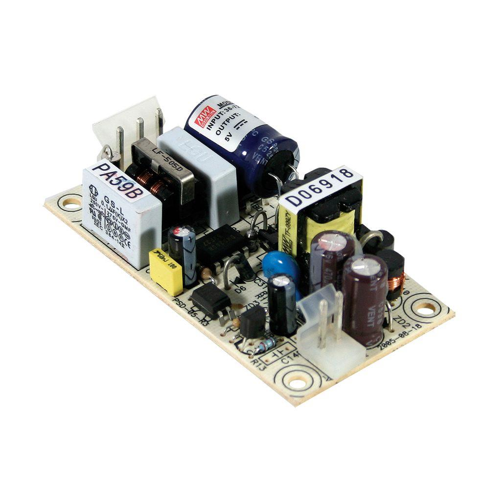 Mean Well PSD-05-12 DC/DC Open Frame - PCB  12V 0.45A Power Supply