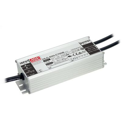 Mean Well HLG-60H-48AB AC/DC Box Type - Enclosed 48V 1.3A Single output LED driver