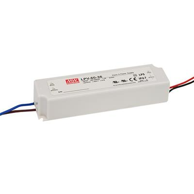 Mean Well LPV-60-48 AC/DC C.V. Box Type - Enclosed 48V 1.25A Single output LED driver