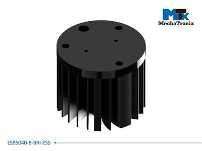 Mechatronix LSB5040-B-BRI-ESS LED Star Cooler for Bridgelux ES Star LED Arrays; Cooling performance 750-1,500 lm; ø50mmxH40mm; Rth 6.5°C/W; Black Anodized