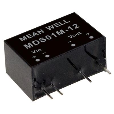 Mean Well MDS01M-05 DC/DC PCB Mount - Through Hole 5V 0.2A medical Converter