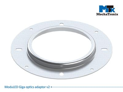 MechaTronix MODULED GIGA OPTICS ADAPTOR V2 Adaptor plate for assembly of CoolView® 10 series lenses and CoolBay® reflectors on ModuLED Giga series LED Coolers