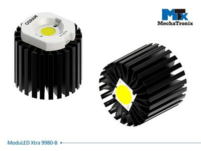 Mechatronix MODULED XTRA 9980-B Modular LED Star Cooler for spot and downlights from 4,700-9,400 lm; ø99mmxH80mm; Rth 1.02°C/W; Mounting holes for Zhaga book 2,3,5,6 & 11 LED modules & 22 mounting hol