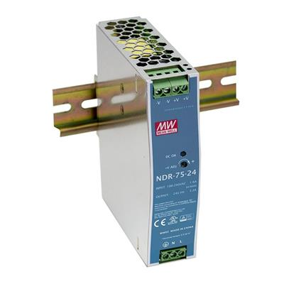 Mean Well NDR-75-12 AC/DC DIN Rail 12V 3A Power Supply