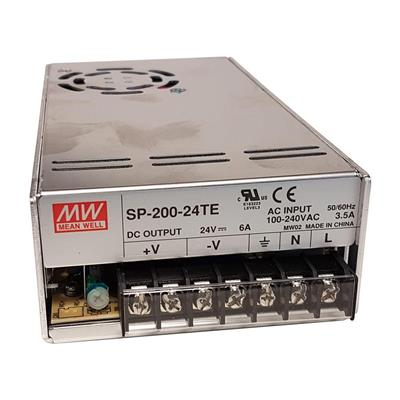Mean Well SP-200-24-TE AC/DC Box Type - Enclosed 24V 6A Power Supply