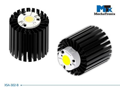 Mechatronix XSA-302-B LED Star Cooler for Xicato XSM, XIM, XTM LED modules; Cooling performance 4,000-8,000 lm; ø86mmxH80mm; Rth 1.2°C/W; Black Anodized